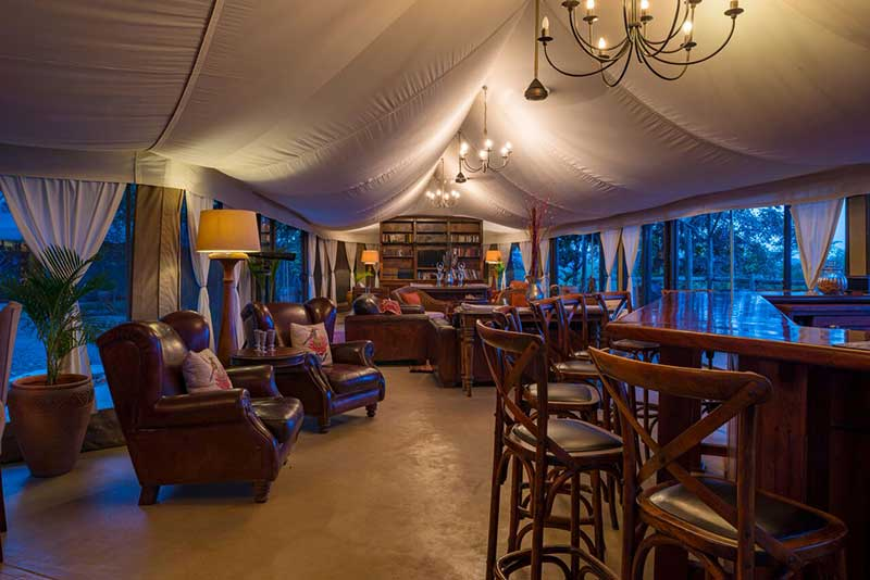The Elephant Camp lounge area.