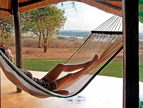 Relaxing at Imbabala Lodge